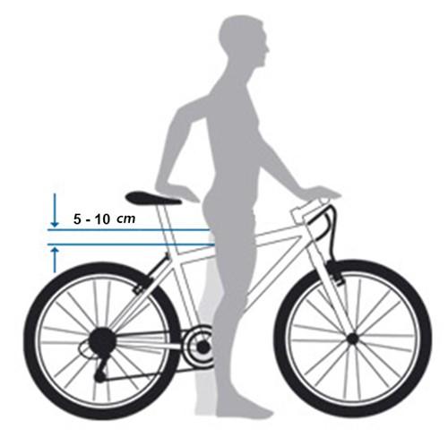 správna výška bicykla